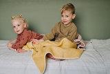 Wiegdeken wol - Yellow_