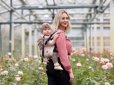 Draagzak Click & Go Baby - Rose